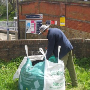 Using the compost donated by Gardenscape