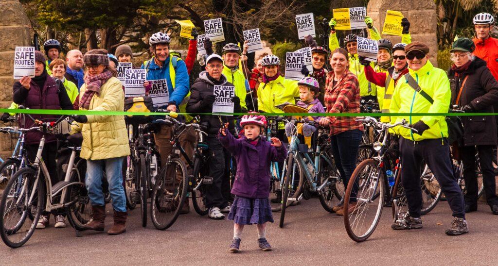 Cycle Protest Alexandra Park