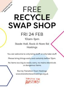 Free Recycle Swap Shop @ The Stade Hall, Hastings Old Town | England | United Kingdom