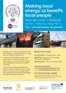 Community Energy Fortnight speakers event @ The Palace, 37 White Rock, Hastings | England | United Kingdom