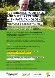 Sustainable food talk and supper evening with Patrick Holden @ The Beacon | England | United Kingdom