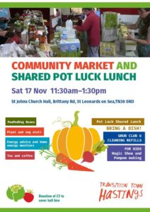 "Community Market & Shared ""pot luck"" lunch @ St John's Church Hall, Brittany Road, St Leonards, TN38 0RD 