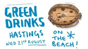 Green Drinks, August 2019 @ On the beach at the end of Sea Road, opposite Marina Fountain.